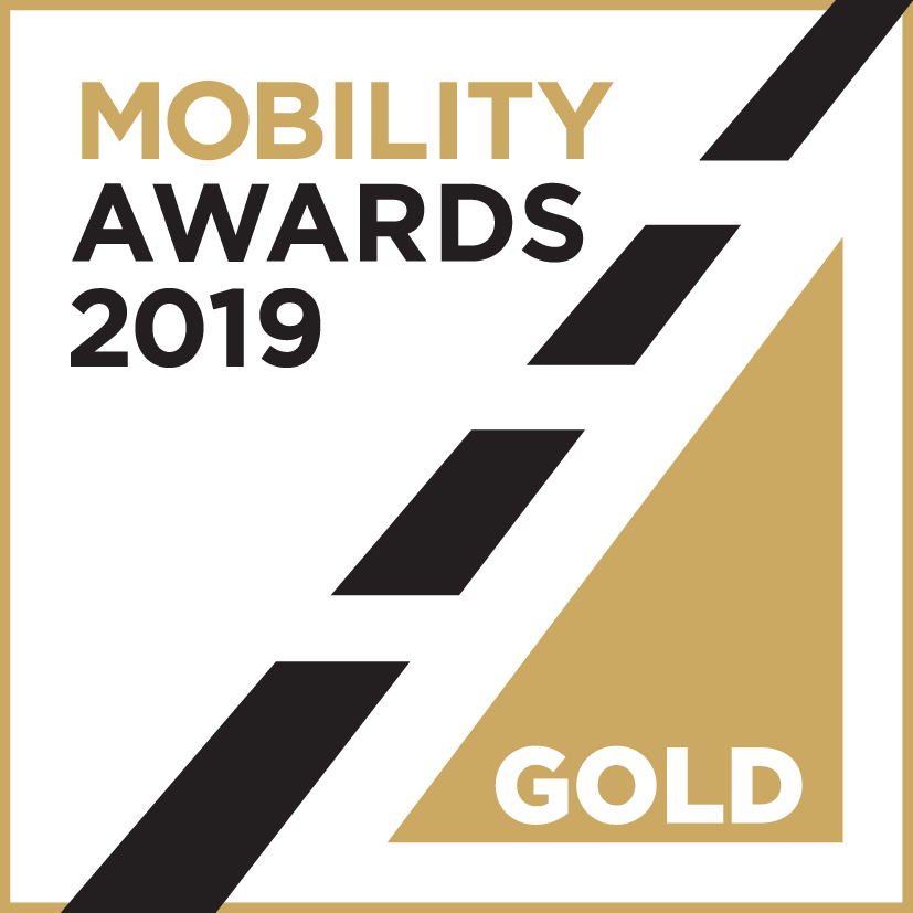 This image has an empty alt attribute; its file name is mobility-awards-2019_gold.png